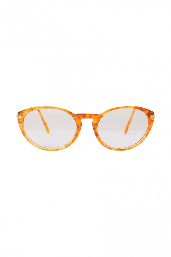 משקפיי ראיה חום עם זהב - CARTIER 1