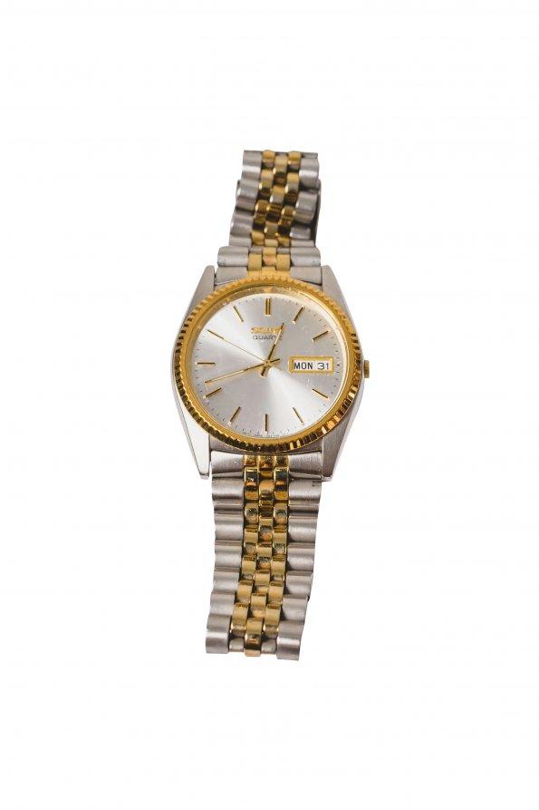 שעון כסף זהב 1