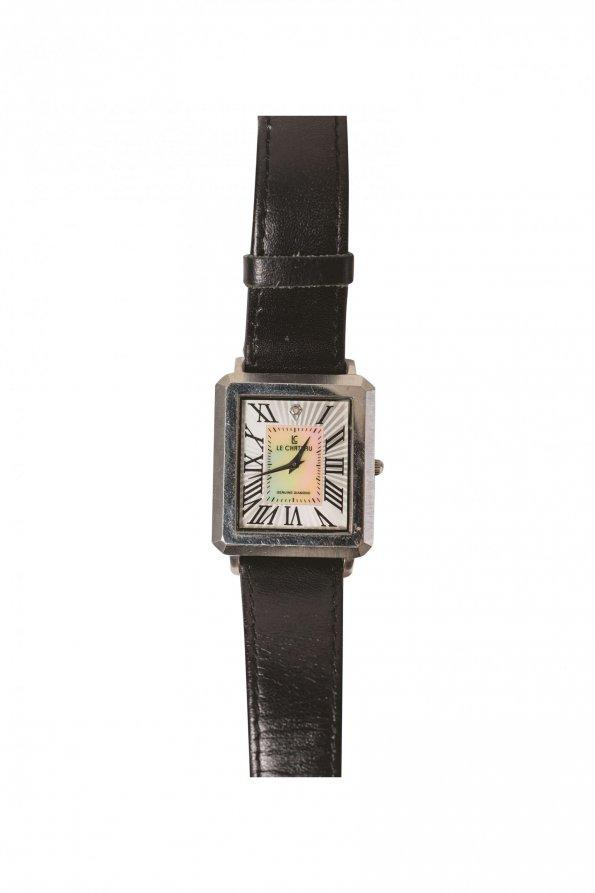 שעון שחור ריבוע כסוף 1