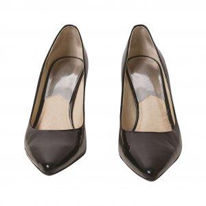 נעלי עקב לקה שחורות 2