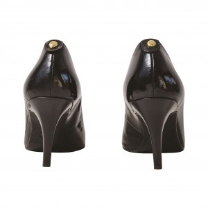 נעלי עקב לקה שחורות 4
