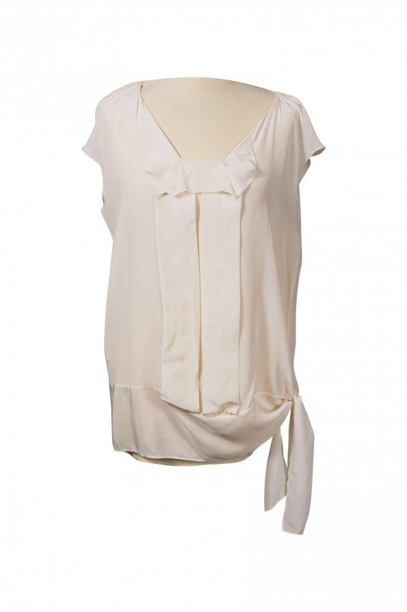 חולצת משי שמנת - Miu Miu 1
