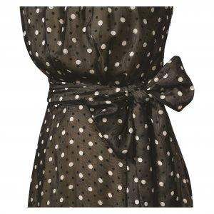 שמלת  מקסי שחורה עם נקודות לבנות 2