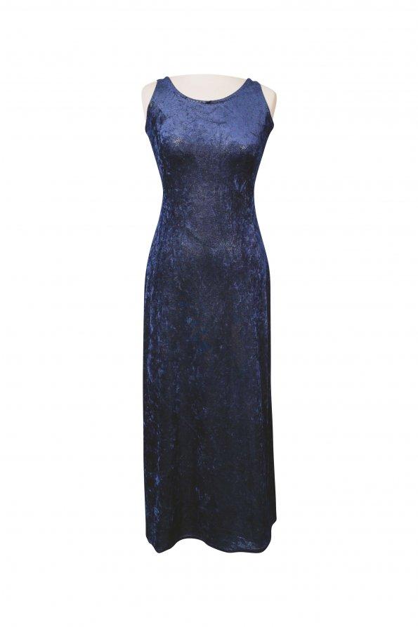 שמלת מקסי כחולה עם נצנצים 1