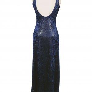 שמלת מקסי כחולה עם נצנצים 2