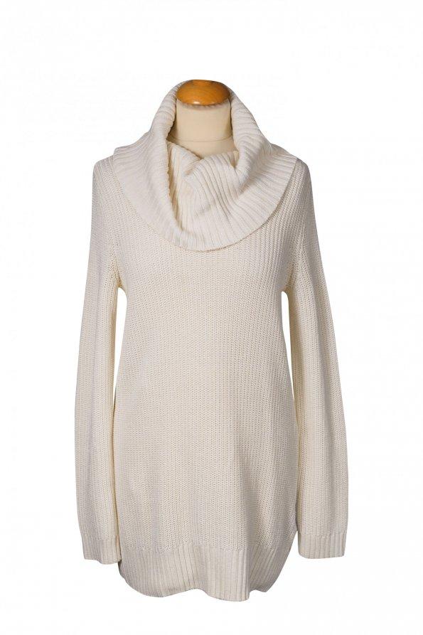 שמלת סוודר גולף שמנת 1