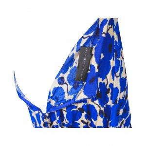 שמלת מקסי מותן חשופה פרחים כחולים 3