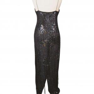שמלת מקסי עם פייטים וחרוזים 2