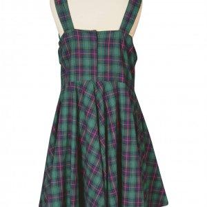 שמלת וינטג' משבצות ירוקה 2