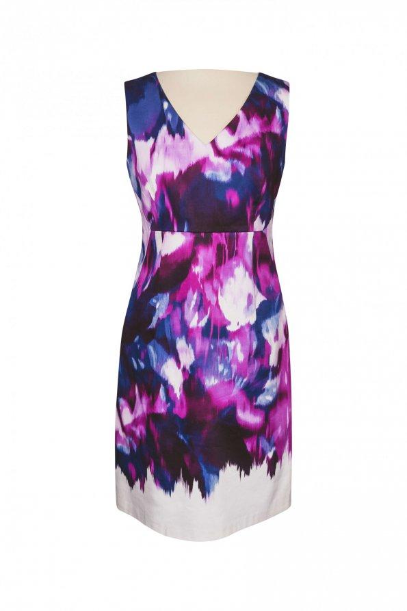 שמלה גווני סגול - Tahari 1