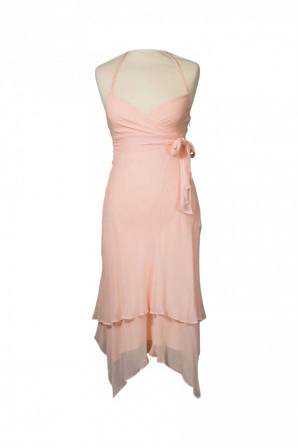 שמלת משי ורוד פודרה - BCBG 1