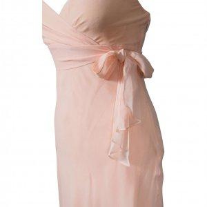 שמלת משי ורוד פודרה 2