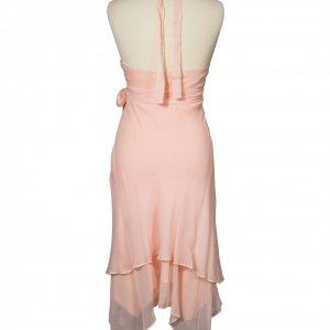 שמלת משי ורוד פודרה 4