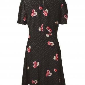שמלה שחורה עם פרחים 2