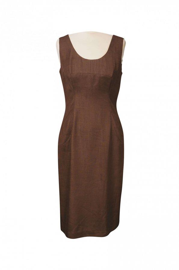 שמלת פשתן חומה - Dolce & Gabbana 1