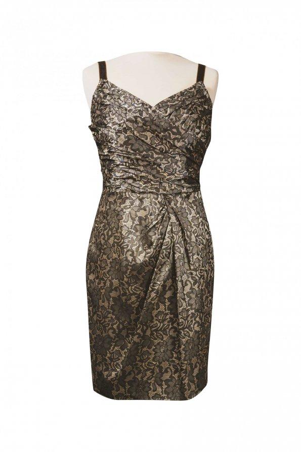 שמלה קצרה חומה אתנית 1