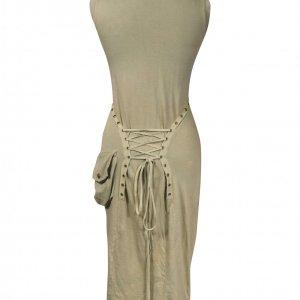 שמלת מקסי ירוק חאקי 2