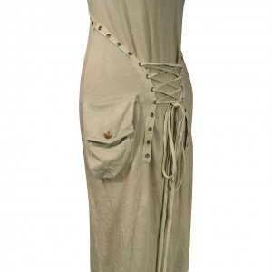 שמלת מקסי ירוק חאקי 4