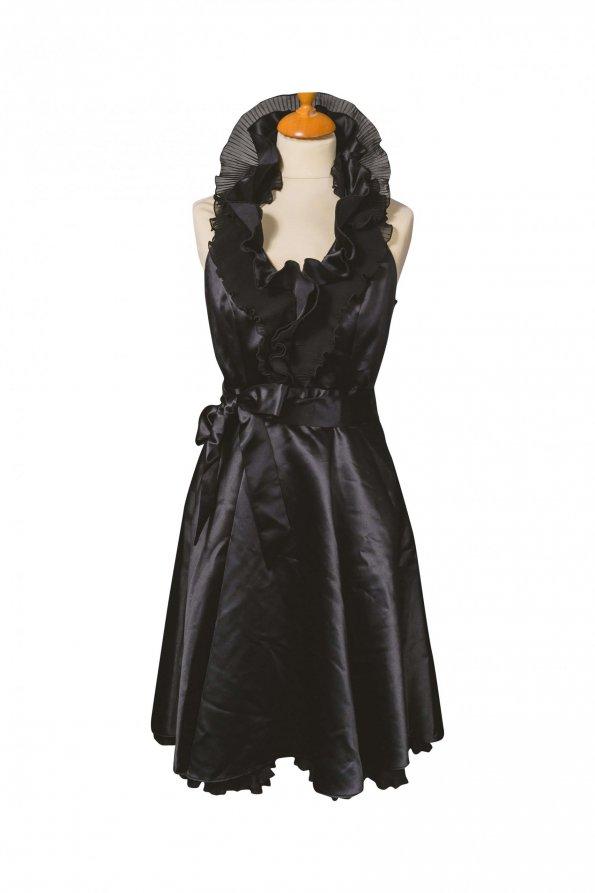 שמלת ערב שחורה צאוורון קולר - Joseph Ribkoff 1