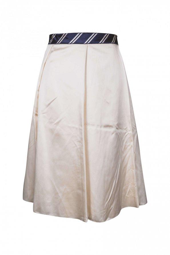 חצאית קפלים גדולים,סטאן שמנת - Dolce & Gabbana 1