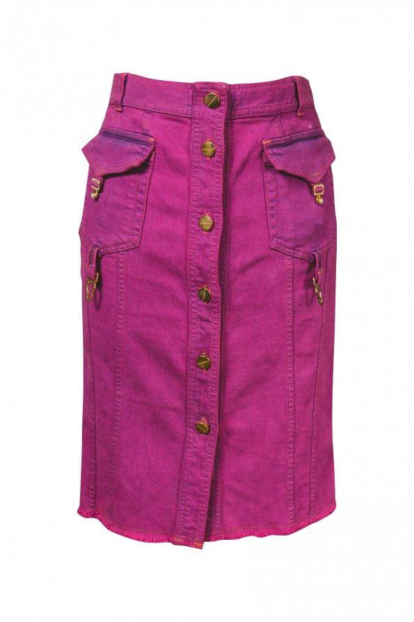 חצאית סגולה בגזרת עפרון - ICEBERG 1