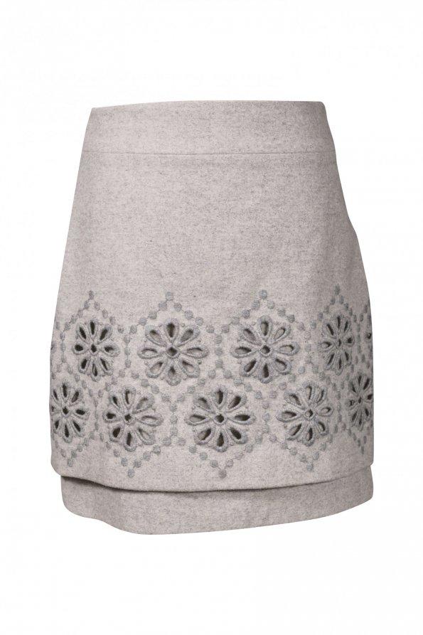 חצאית צמר אפורה - Max Mara 1