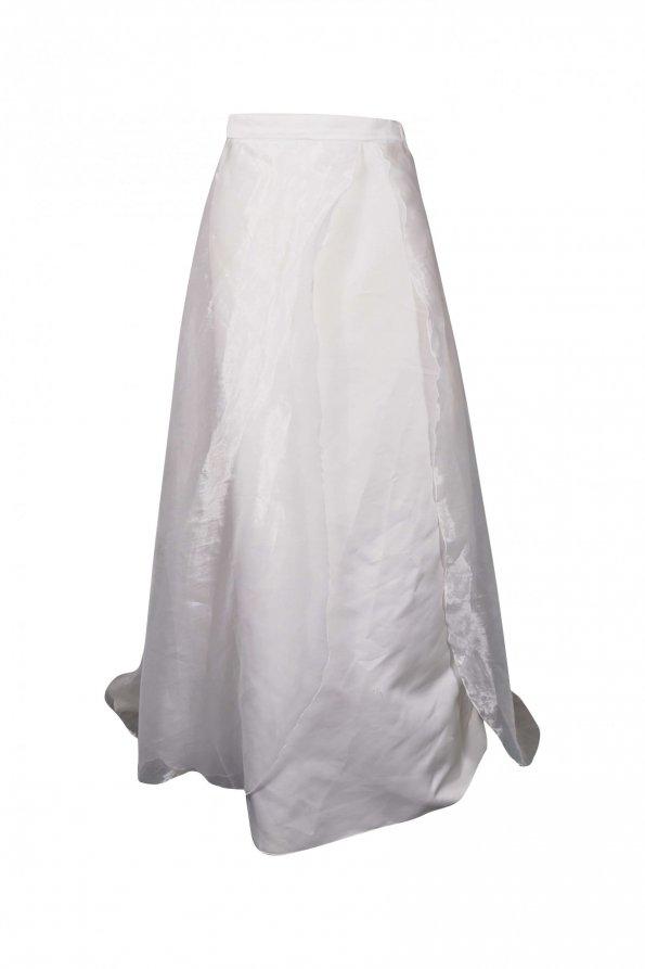 חצאית מקסי נפוחה לבנה 1
