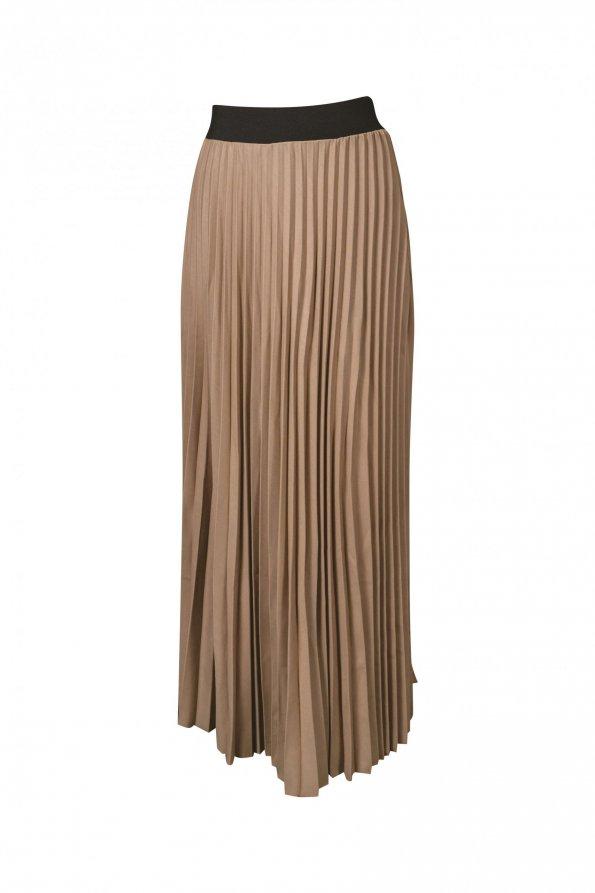 חצאית פליסה בז' 1