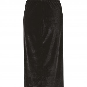חצאית צמודה מידי קטיפה שחורה 2