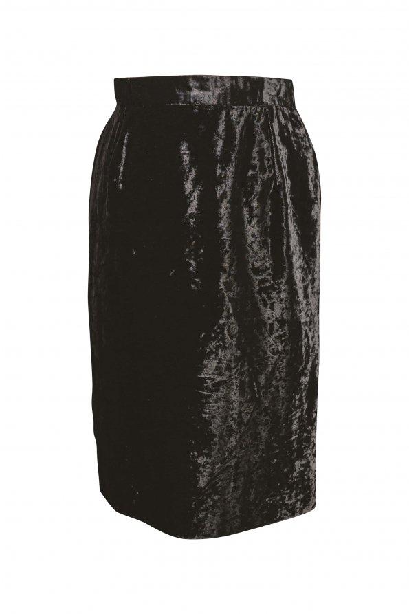 חצאית וינטג' קטיפה שחורה 1