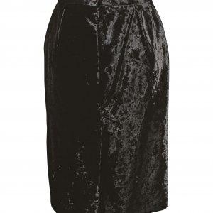 חצאית וינטג' קטיפה שחורה 2