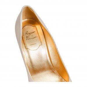 נעלי עקב פנינה עם ריבוע יהלומים 3