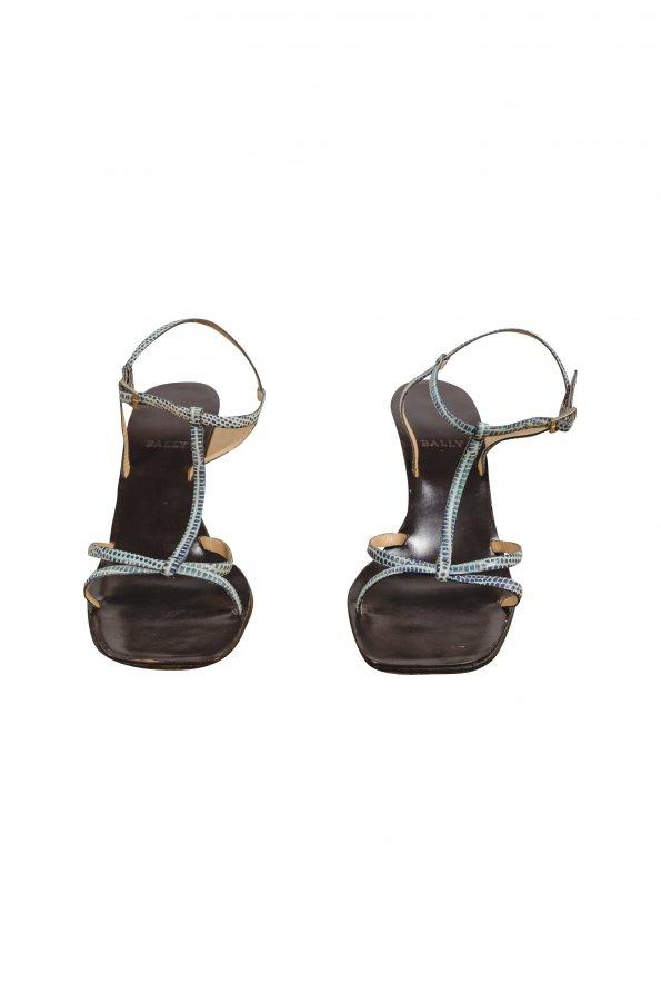 נעלי עקב עץ BALLY 1