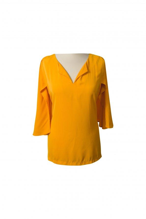 חולצה צהוב חרדל 1