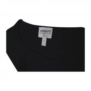 חולצה שחורה קצרה בד סריג 2