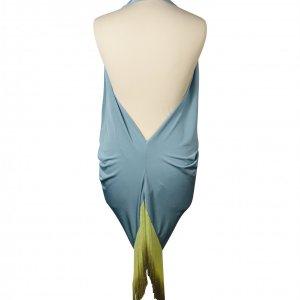 שמלת תכלת פרנזים ירוקים 3