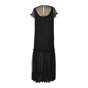 שמלת מקסי רשת שחורה 2