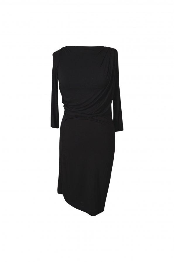 שמלה שחורה צמודה 1