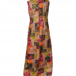 שמלת מקסי צבעונית עם זהב 2