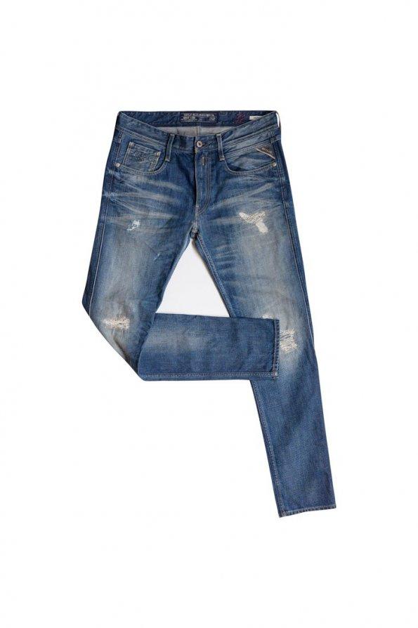 מכנס ג׳ינס replay  קרעים לגבר 1