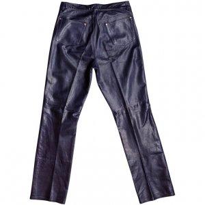 מכנס עור כחול גבוה 2