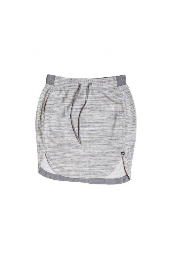 חצאית סרוגה פסים אפור לבן 1