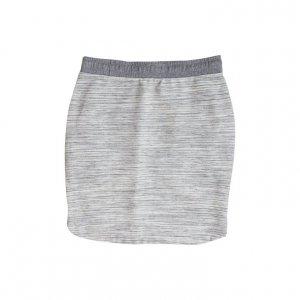 חצאית סרוגה פסים אפור לבן 2
