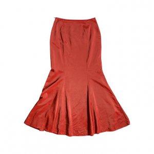 חצאית אורגנזה מקסי אדום 2