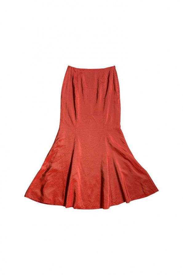 חצאית אורגנזה מקסי אדום 1