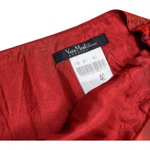 חצאית אורגנזה מקסי אדום 3