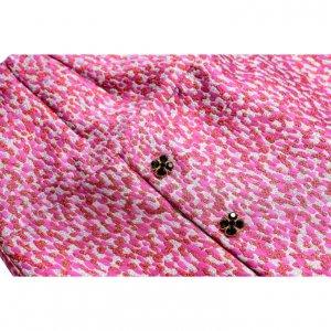 חצאית מנומרת ורודה כפתורים ירוקים 3