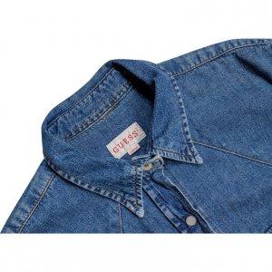חולצה מכופתרת ג׳ינס guess 3