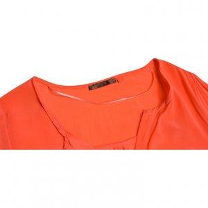 חולצת משי ארוכה כתום אפרסק 2