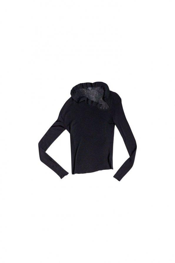 חולצת סריג שחורה 1